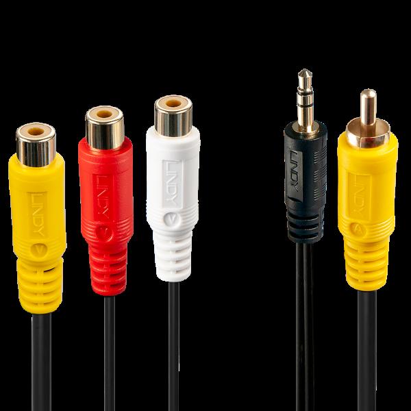 LINDY Audio-Video-Adapter für 3-polige Videokabel an PC-Soundkarten