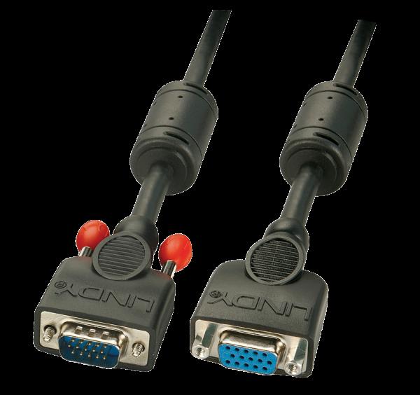 LINDY VGA-Verlängerung, schwarz , 1m