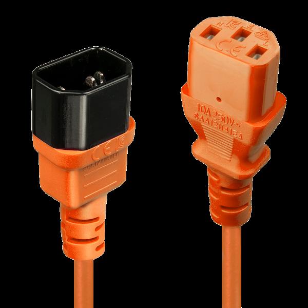 LINDY 0,5m IEC Verlängerung, orange