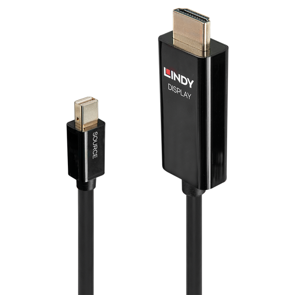 LINDY 2m Aktives Mini DisplayPort an HDMI Adapterkabel