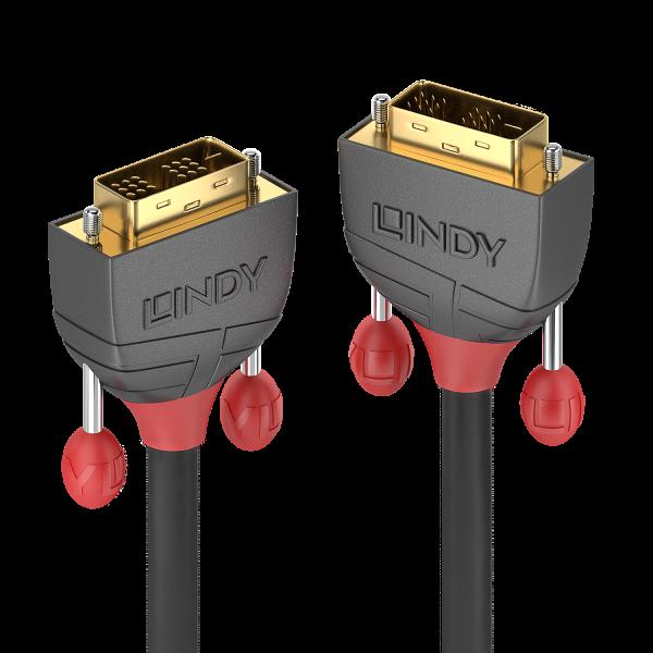 LINDY 10m DVI-D Single Link Kabel, Anthra Line