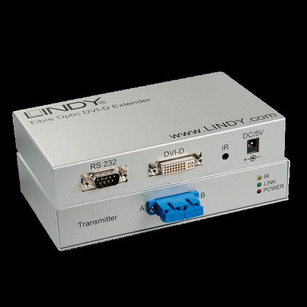 LINDY 300m LWL / Fibre Optic DVI-D Single Link, RS232 Extender
