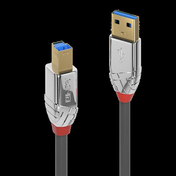 LINDY 2m USB 3.0 Typ A an B Kabel, Cromo Line