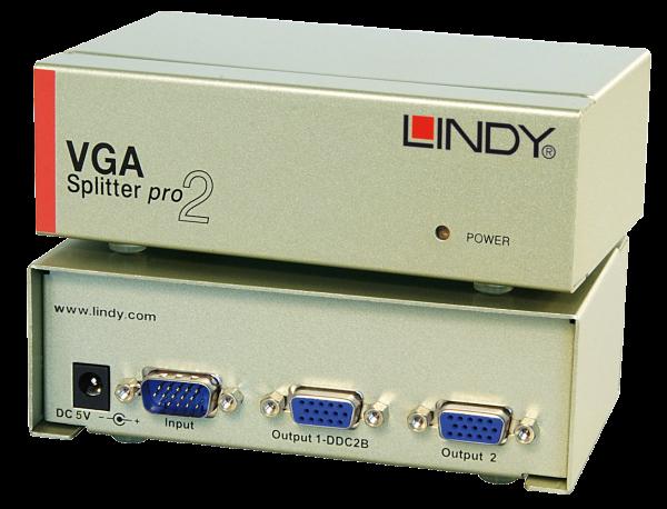 LINDY VGA Splitter PRO, 2 Port