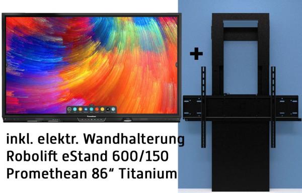 "Promethean 86"" Titanium BUNDLE inkl. ActivInspire, Google Chromebox, elektr. Wandhalterung"