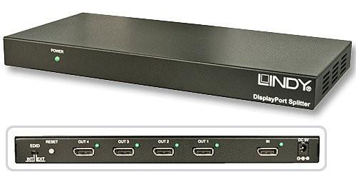 LINDY 4 Port DisplayPort 1.1 Splitter