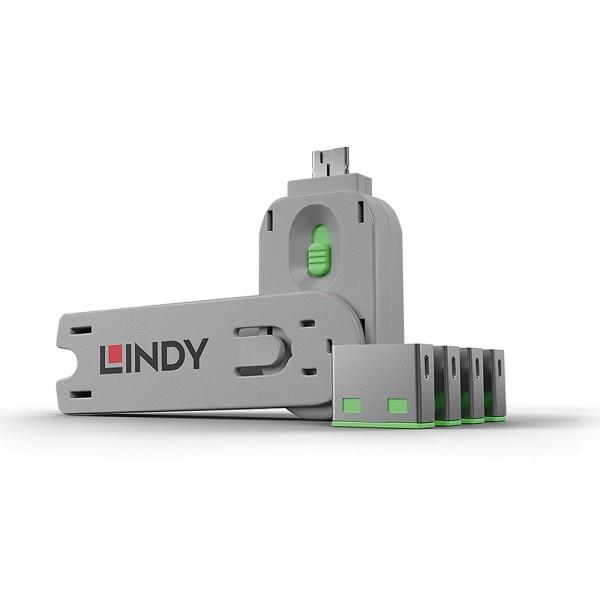 LINDY USB Typ A Port Schloss, grün
