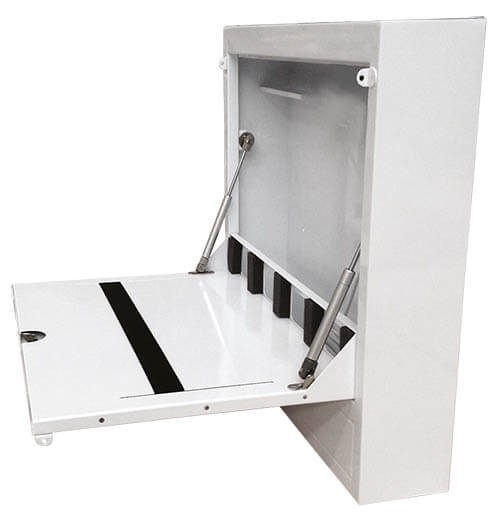 Robolift Laptop-Box für mRoll/ mStand, abschließbar als Zubehör.