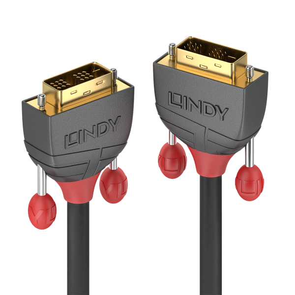 LINDY 15m DVI-D Single Link Kabel, Anthra Line