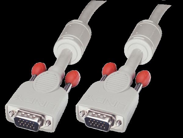 LINDY VGA Kabel M/M, cool grey, 10 m
