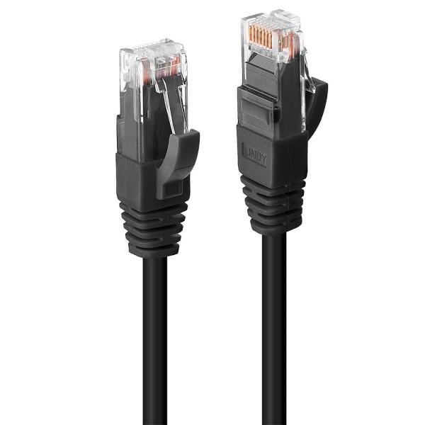 LINDY 3m Cat.6 U/UTP LSZH Netzwerkkabel, schwarz