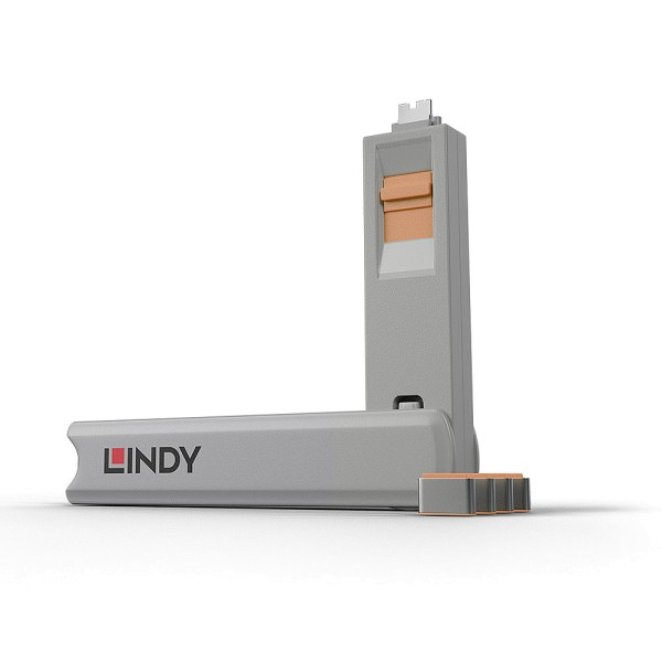 LINDY USB Typ C Port Schloss, orange