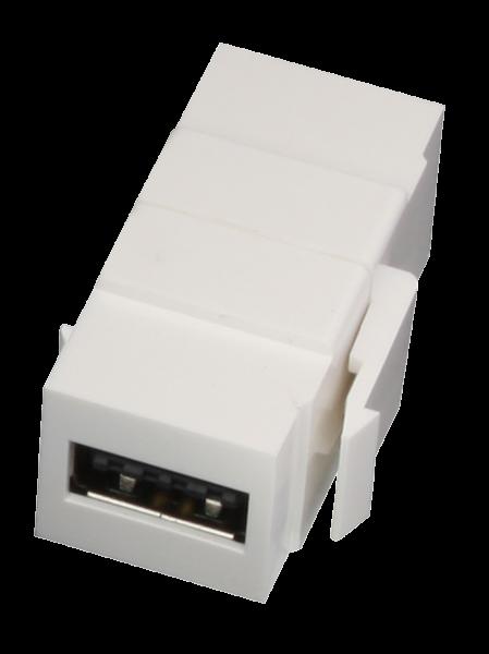 "LINDY USB A Doppelkupplungs-Keystonefür Wanddosen ""reversible"""