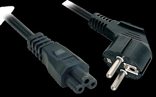 LINDY 2m Schuko an IEC C5 Netzkabel
