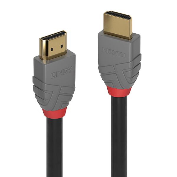 LINDY 2m HDMI High Speed HDMI Kabel, Anthra Line