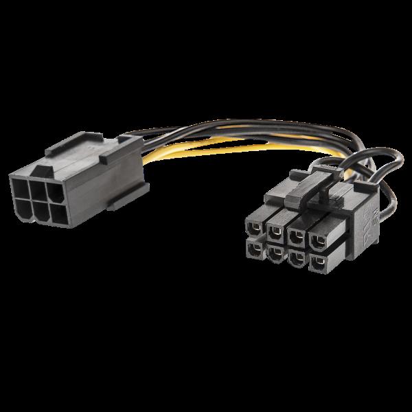 LINDY 1x 6 pol. Kupplung an 8 pol. PCIe Stecker