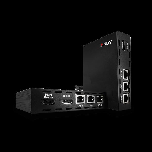 LINDY 100m Cat.6 HDMI, IR & RS232 HDBaseT Extender inklusive PoH & Ethernet Hub