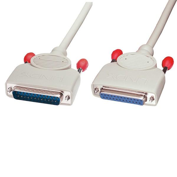 LINDY RS232 Verlängerungskabel 1:1, 25 pol. Sub-D Stecker an 25 pol. Sub-D Kupplung, 5m