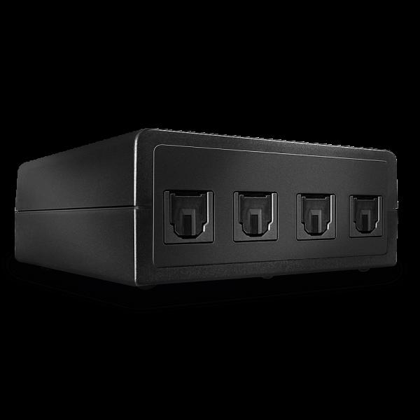 LINDY Automatischer optischer 4 Port Audio Switch