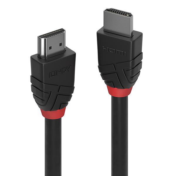 LINDY 2m High Speed HDMI Kabel, Black Line