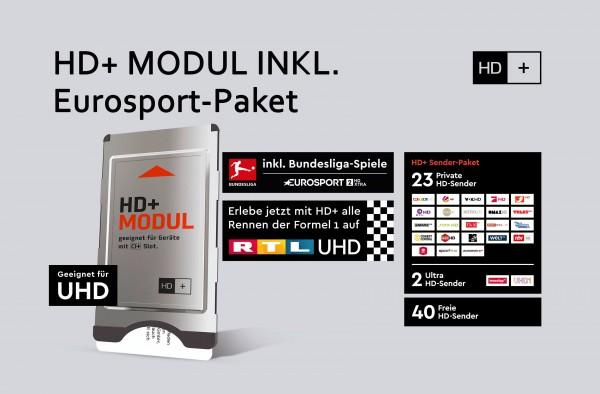 HD+ Modul mit Karte, inkl. Eurosport über DAZN