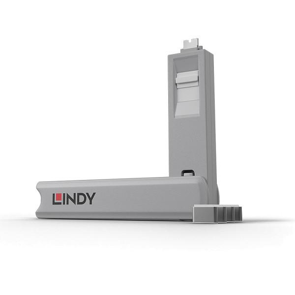 LINDY USB Typ C Port Schloss, weiß