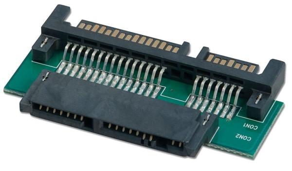 LINDY Micro SATA an SATA Adapter mit 3,3V Regler für Micro SATA Device