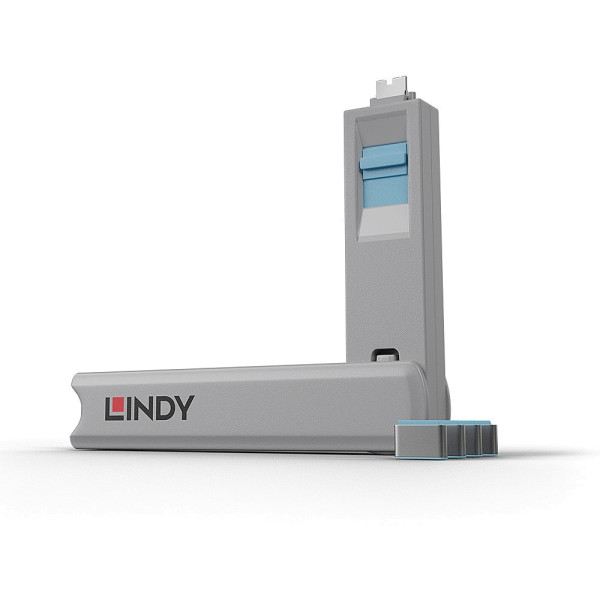 LINDY USB Typ C Port Schloss, blau