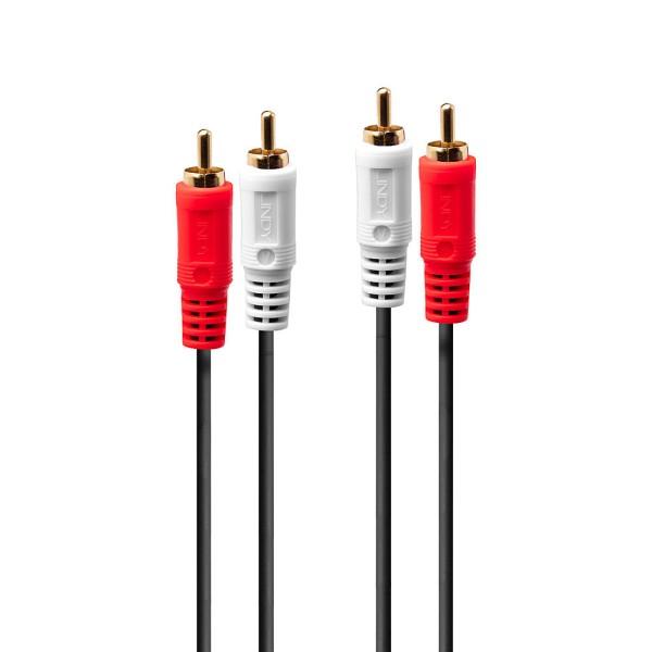 LINDY Premium Audiokabel (Cinch), Stecker/Stecker, 2m