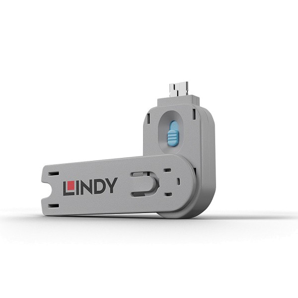 LINDY Schlüssel für USB Port Schloss, blau