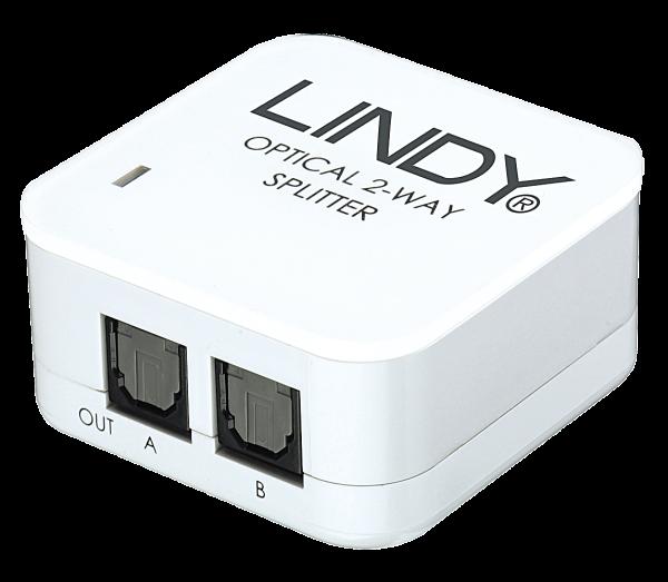 LINDY Audiosplitter Toslink SPDIF Digital 2 Port