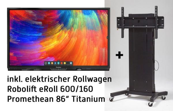 "Promethean 86"" Titanium BUNDLE inkl. ActivInspire, Google Chromebox, elektr. Rollwagen"
