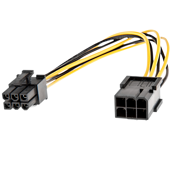 LINDY 6 pol. Stecker/Kupplung PCIe Stromadapter
