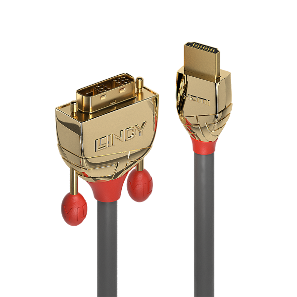 LINDY 3m HDMI an DVI Kabel, Gold Line