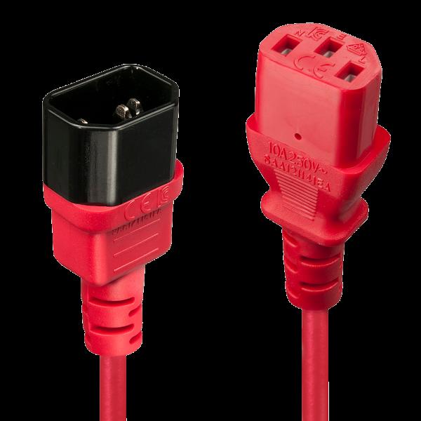 LINDY 0,5m IEC Verlängerung, rot