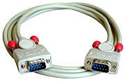 LINDY RS232 Kabel 9 pol. Sub-D Stecker an 9 pol. Sub-D Stecker, 1:1, 10m