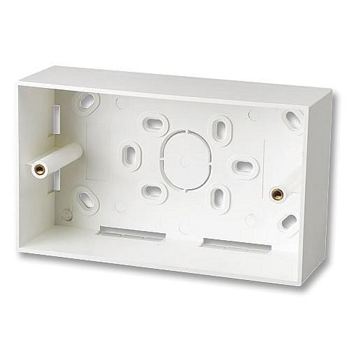 LINDY Aufputzrahmen 146x86mm für Doppel-Wanddosen (UK), 47mm tief