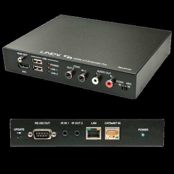 LINDY 100m C6 HDBaseT 2.0 KVM Extender Pro - Receiver