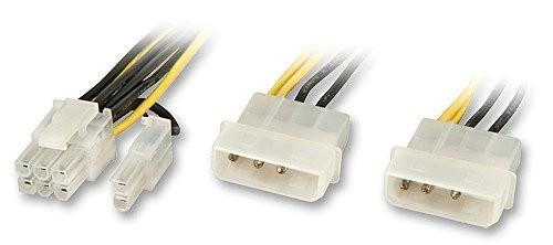 LINDY Internes Stromadapterkabel SLI-Grafik- für PCIe-Karten mit 6poligem oder 8poligem Stromanschlu
