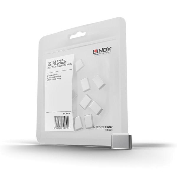 LINDY USB Typ C Port Schloss, weiß, 10 Stück