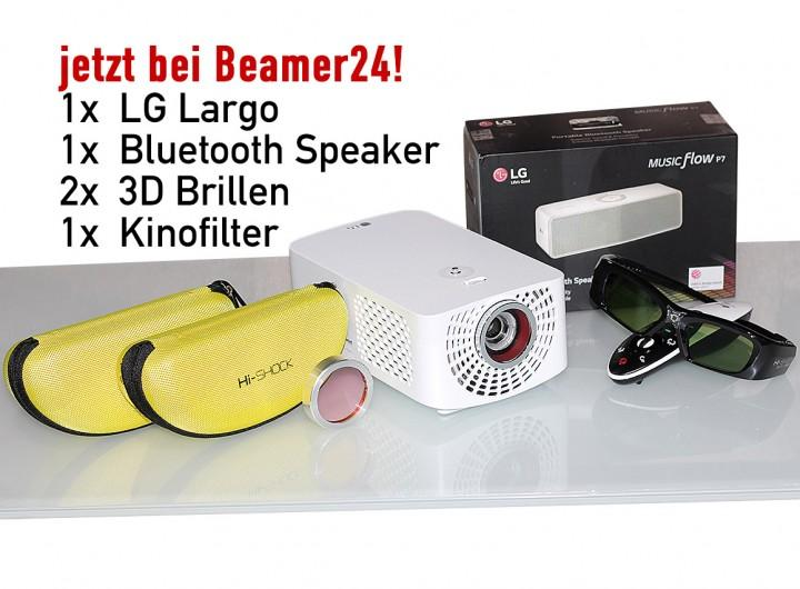 LG Largo - PF1500-EU inkl. C4H-Farbfilter und LG-P7 Lautsprecher + 2 x Gratis 3D-Brille